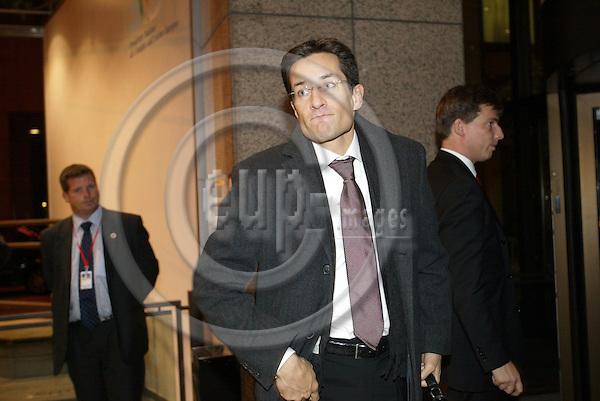 Belgium---Brussels---Council---EURO GROUP-Arrival                03.11.2003.Karl-Heinz GRASSER, Finance Minister,  Austria; ..PHOTO: EUP-IMAGES / ANNA-MARIA ROMANELLI