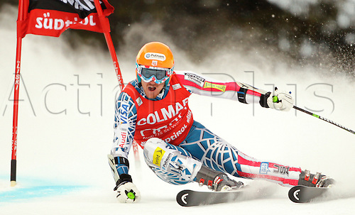 Ted Ligety of USA skiing in first run of Men giant slalom race of Audi FIS alpine skiing World Cup in Alta Badia, Italy. Giant slalom race of Men Audi FIS Alpine skiing World Cup 2010-11, was held on Sunday, 20th of December 2010, on Gran Risa course in Alta Badia, Italy.