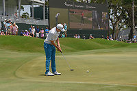 Matt Fitzpatrick (ENG) watches his putt on 18 during round 3 of The Players Championship, TPC Sawgrass, at Ponte Vedra, Florida, USA. 5/12/2018.<br /> Picture: Golffile | Ken Murray<br /> <br /> <br /> All photo usage must carry mandatory copyright credit (&copy; Golffile | Ken Murray)