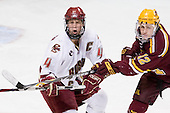 Mike Brennan (BC - 4), Tony Lucia (Minnesota - 12) - The Boston College Eagles defeated the University of Minnesota Golden Gophers 5-2 on Saturday, March 29, 2008, in the NCAA Northeast Regional Semi-Final at the DCU Center in Worcester, Massachusetts.
