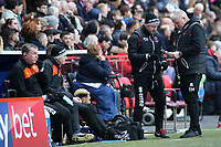 Blackpool's Manager Terry McPhillips plots his side's next move<br /> <br /> Photographer David Shipman/CameraSport<br /> <br /> The EFL Sky Bet League One - Charlton Athletic v Blackpool - Saturday 16th February 2019 - The Valley - London<br /> <br /> World Copyright © 2019 CameraSport. All rights reserved. 43 Linden Ave. Countesthorpe. Leicester. England. LE8 5PG - Tel: +44 (0) 116 277 4147 - admin@camerasport.com - www.camerasport.com