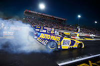 Sep 2, 2016; Clermont, IN, USA; NHRA funny car driver Ron Capps during qualifying for the US Nationals at Lucas Oil Raceway. Mandatory Credit: Mark J. Rebilas-USA TODAY Sports