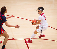 STANFORD, CA - February 22, 2019: Anna Wilson at Maples Pavilion. The Stanford Cardinal defeated the Arizona Wildcats 56-54.