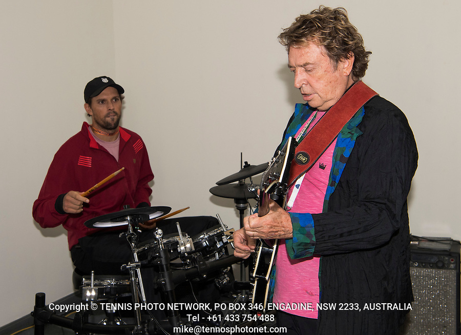ANDY SUMMERS, FORMER MEMBER OF BAND,  THE POLICE, MIKE BRYAN (USA), BOB BRYAN (USA)<br /> <br /> TENNIS - ROLEX SHANGHAI MASTERS - QI ZHONG TENNIS CENTER - MINHANG DISTRICT - SHANGHAI - CHINA - ATP 1000 - 2016  <br /> <br /> <br /> <br /> &copy; TENNIS PHOTO NETWORK