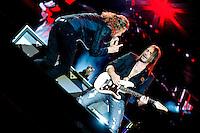 MADRI, ESPANHA, 30 JUNHO 2012 - ROCK IN RIO MADRI - A banda mexicana Mana durante apresentacao no Rock In Rio Madrid na Espanha na noite de ontem sábado, 30. (FOTO: MARISCAL / ALFAQUI / BRAZIL PHOTO PRESS).
