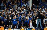 Apollon Limassol fans during the Europa League Group E match at Goodison Park Stadium, Liverpool. Picture date: September 28th 2017. Picture credit should read: Simon Bellis/Sportimage