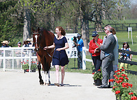 LEXINGTON, KY - April 26, 2017. #18 Foxwood High and Selena O'Hanlon from Canada at the Rolex Three Day Event First Horse Inspection at the Kentucky Horse Park.  Lexington, Kentucky. (Photo by Candice Chavez/Eclipse Sportswire/Getty Images)