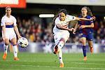 UEFA Women's Champions League 2017/2018.<br /> Quarter Finals.<br /> FC Barcelona vs Olympique Lyonnais: 0-1.<br /> Amel Majri.