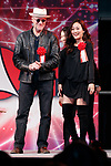 (L to R) Actors Michael Rooker and Karen Fukuhara attend the opening ceremony for the Tokyo Comic Con 2017 at Makuhari Messe International Exhibition Hall on December 1, 2017, Tokyo, Japan. This is the second year that San Diego Comic-Con International held the event in Japan. Tokyo Comic Con runs from December 1 to 3. (Photo by Rodrigo Reyes Marin/AFLO)