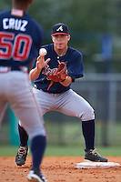 Atlanta Braves Luke Dykstra (18) during an instructional league game against the Houston Astros on October 1, 2015 at the Osceola County Complex in Kissimmee, Florida.  (Mike Janes/Four Seam Images)