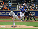 Lucas Duda (Mets), SEPTEMBER 18, 2015 - MLB : New York Mets' Lucas Duda hits a solo home run as New York Yankees starter Masahiro Tanaka throws the ball against the New York Yankees in the second inning of a baseball game in New York, United States. (Photo by AFLO)