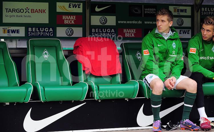 FUSSBALL  1. BUNDESLIGA   SAISON 2009/2010  34. SPIELTAG SV Werder Bremen - Hamburger SV                       08.05.2010 Marko MARIN (Bremen) sitzt zu Beginn auf der Ersatzbank