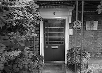 Chiswick. Greater London. Front door of the British Rowing Headquarters Building Lower Mall  - Chiswick Mall and embankment  Leading from Chiswick to Fulham Reach RC. Sunday.  24.07.2016  [Mandatory Credit: Peter Spurrier/Intersport-images.com]
