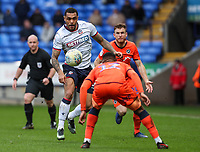Bolton Wanderers' Josh Magennis competing with Millwall's Mahlon Romeo <br /> <br /> Photographer Andrew Kearns/CameraSport<br /> <br /> The EFL Sky Bet Championship - Bolton Wanderers v Millwall - Saturday 9th March 2019 - University of Bolton Stadium - Bolton <br /> <br /> World Copyright © 2019 CameraSport. All rights reserved. 43 Linden Ave. Countesthorpe. Leicester. England. LE8 5PG - Tel: +44 (0) 116 277 4147 - admin@camerasport.com - www.camerasport.com