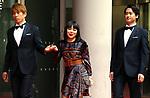"November 24, 2017, Tokyo, Japan - Japanese comedian Buruzon Chiemi (C) arrives at the awarding ceremony for ""Vogue Japan Women of the Year 2017"" in Tokyo on Friday, November 24, 2017.      (Photo by Yoshio Tsunoda/AFLO) LWX -ytd-"