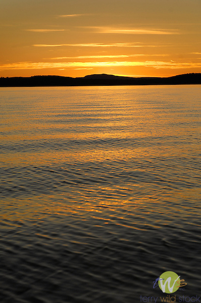 Moosehead Lake at sunset.