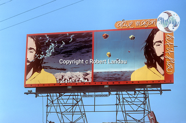 Dave Mason billboard for album Let It Flow on the S unset Strip circa 1977