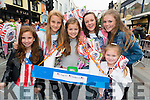 Aine Cagney, Ciara Kennelly, Alisson Moynihan, Katie O'Leary, Elizabeth Stack and Ruth Moynihan (all from Killarney) enjoying Big Parade.  Killarney 4th of July Celebrations. Photo by Marek Hajdasz www.mhphotos.ie