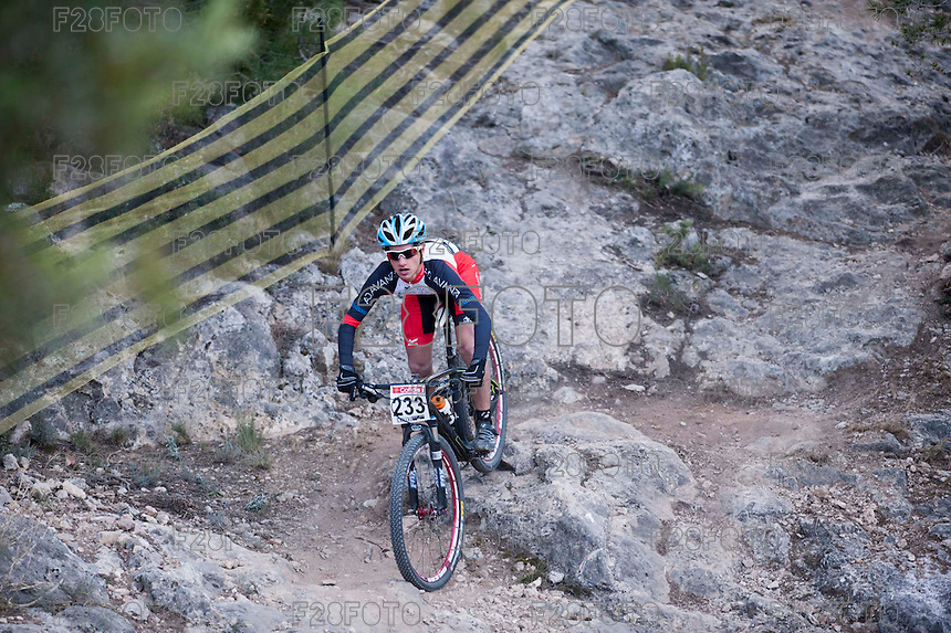 Chelva, SPAIN - MARCH 6: Borja Lorenzo during Spanish Open BTT XCO on March 6, 2016 in Chelva, Spain