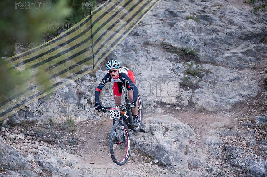 Chelva, SPAIN - MARCH 6: Borja Lorenzo during Spanish Open BTT XCO on March 6, 2016 in Chelva, Spain