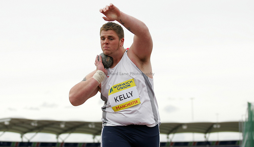 Photo: Paul Thomas/Richard Lane Photography..Norwich Union World Trials and AAA Championships. 28/07/2007...Kieran Kelly during the men's shot put.