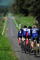 Sacred Heart senior B u20 boys in action during the NZ Schools Road Cycling championship day one team time trials at Koputaroa Road near Levin, New Zealand on Saturday, 30 September 2017. Photo: Dave Lintott / lintottphoto.co.nz