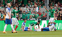 Mexico City, Mexico - Sunday June 11, 2017: Mexcio, USMNT during a 2018 FIFA World Cup Qualifying Final Round match with both men's national teams of the United States (USA) and Mexico (MEX) playing to a 1-1 draw at Azteca Stadium.