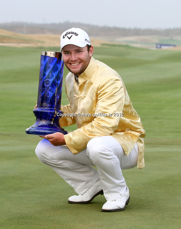 Branden Grace (RSA) the winner on the Final Day of the 2012 Volvo China Open at Binhai Lake Golf Club, Tianjin, China...(Photo Jenny Matthews/www.golffile.ie)