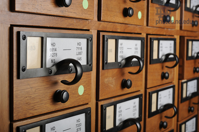 Card catalog on the 2nd floor of Hesburgh Library