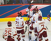 Blake Hillman (DU - 25), Michael Davies (DU - 21), Jarid Lukosevicius (DU - 14), Troy Terry (DU - 19), Dylan Gambrell (DU - 7) - The University of Denver Pioneers defeated the University of Minnesota Duluth Bulldogs 3-2 to win the national championship on Saturday, April 8, 2017, at the United Center in Chicago, Illinois.