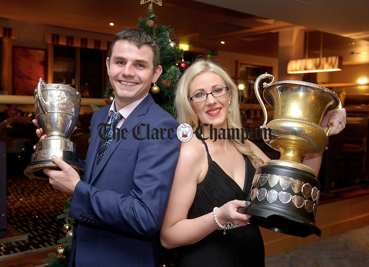 John and Siobhan O Gorman at the Cratloe GAA Victory dinner in The Radisson hotel Limerick.<br /> Photograph by John Kelly.