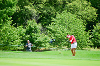 Carlota Ciganda (ESP) hits her approach shot on 1 during Sunday's final round of the 72nd U.S. Women's Open Championship, at Trump National Golf Club, Bedminster, New Jersey. 7/16/2017.<br /> Picture: Golffile | Ken Murray<br /> <br /> <br /> All photo usage must carry mandatory copyright credit (&copy; Golffile | Ken Murray)