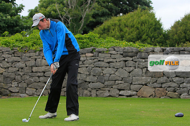 Niall Grant (Island) on the 1st tee during R2 of the 2016 Connacht U18 Boys Open, played at Galway Golf Club, Galway, Galway, Ireland. 06/07/2016. <br /> Picture: Thos Caffrey | Golffile<br /> <br /> All photos usage must carry mandatory copyright credit   (&copy; Golffile | Thos Caffrey)