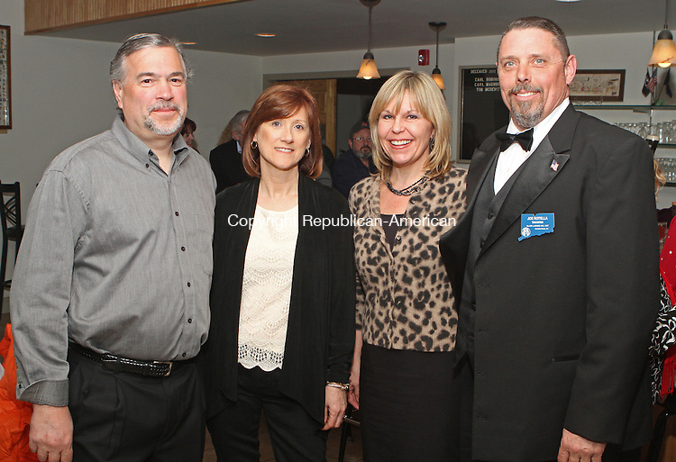 Naugatuck, CT-040613MK02 (From left) Gary and Kathy Vitiello with Lori and Joe Rotella ,Trustee, gathered Saturday evening at the Naugatuck Elks Lodge #967 for the induction of the 2013 Exalted Ruler.  Michael Kabelka / Republican-American