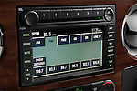 Stereo audio system close up detail of a 2008 Ford F350 Crew Cab