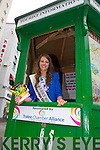 Hotel room are almost booked out for the rose of Tralee festival, but the the Voluntees of the Tourist Information will point you in the right direction to any vacancies Pictured Kerry rose Mary Hickey.