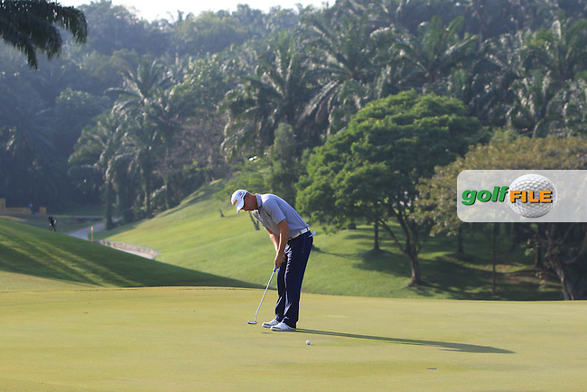Marcel Siem (GER) on the 7th green during Round 2 of the Maybank Championship on Friday 10th February 2017.<br /> Picture:  Thos Caffrey / Golffile<br /> <br /> All photo usage must carry mandatory copyright credit      (&copy; Golffile | Thos Caffrey)