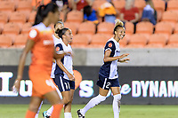 Houston, TX - Saturday July 15, 2017: Estelle Johnson celebrates her goal during a regular season National Women's Soccer League (NWSL) match between the Houston Dash and the Washington Spirit at BBVA Compass Stadium.