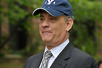 Tom Hanks gives Yale University Commencement Speech on Old Campus during Class Day Ceremonies. 22 May 2011, New Haven, CT. Hanks wearing the Yale '11 Class cap.