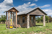 Historic gas station w/ housed gas pump near Clifton, TX