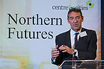 © Joel Goodman - 07973 332324 . NO SYNDICATION PERMITTED . 06/11/2014 . Leeds , UK . Economist JIM O'NEILL of the City Growth Commission , addresses the Northern Futures Summit in Leeds this morning (Thursday 6th November 2014) .  . Photo credit : Joel Goodman