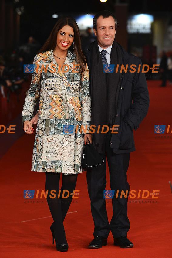 Stylist Lavinia Biagiotti and her husband Francesco Jovine.Roma 9/11/2012 Auditorium.Festival del Cinema di Roma.Foto Andrea Staccioli Insidefoto