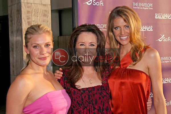"""Katee Sackhoff with Mary McDonnell and Tricia Helfer<br />at the Exclusive Celebration of """"Battlestar Galactica"""". Cinerama Dome, Hollywood, CA. 06-11-08<br />Dave Edwards/DailyCeleb.com 818-249-4998"""