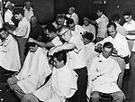 Free shearing for Guardsmen was the order men got the full tonsorial treatment from 30 Barbers of the Masters Barbers Association and Local 732.