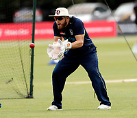 Adam Rouse warms up during day 2 of the Specsavers County Championship Div 2 game between Kent and Sussex at the St Lawrence Ground, Canterbury, on May 12, 2018