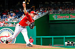 6 June 2010: Washington Nationals' starting pitcher Craig Stammen on the mound against the Cincinnati Reds at Nationals Park in Washington, DC. The Reds edged out the Nationals 5-4 in a ten inning game. Mandatory Credit: Ed Wolfstein Photo