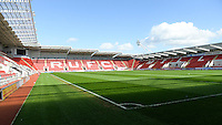 20160408 - ROTHERHAM , ENGLAND : illustration picture of the AESSEAL New York Stadium before the female soccer game between England and The Belgian Red Flames - Belgium , the fourth game in the qualification for the European Championship in The Netherlands 2017  , Friday 8 th April 2016 at AESSEAL New York Stadium in Rotherham , England . PHOTO DAVID CATRY