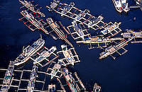 Aerial view of harbor area near Manila, Philippines