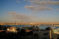 view of Suez Canal. Ismailia, Egypt Suez Canal.