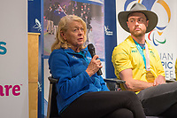 Welcome home / Press Conference / APC CEO Lynne Anderson<br /> PyeongChang 2018 Paralympic Games<br /> Australian Paralympic Committee<br /> Sydney International Airport<br /> PyeongChang South Korea<br /> Tuesday March 20th 2018<br /> &copy; Sport the library / Jeff Crow